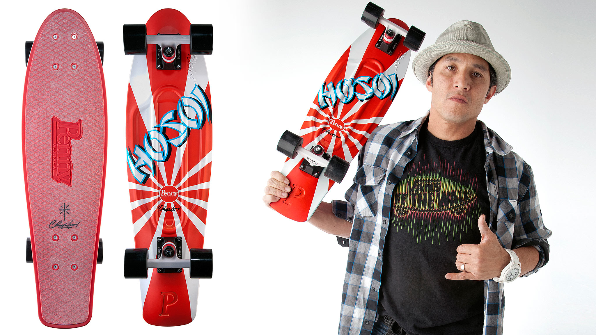 The Hosoi Penny board will look good under your feet or on your wall.