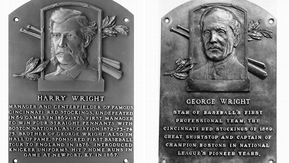 George and Harry Wright of Major League Baseball