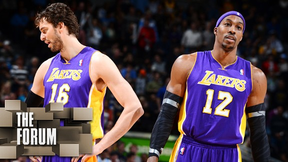 Dwight Howard and Pau Gasol