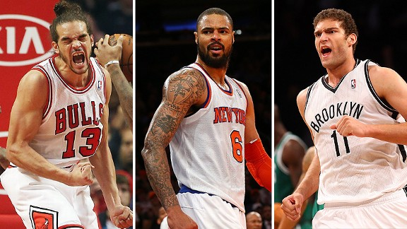 Joakim Noah, Tyson Chandler and Brook Lopez
