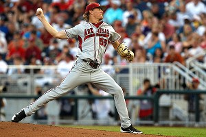 Arkansas right-hander Ryne Stanek will be the Razorbacks' Friday night starter.