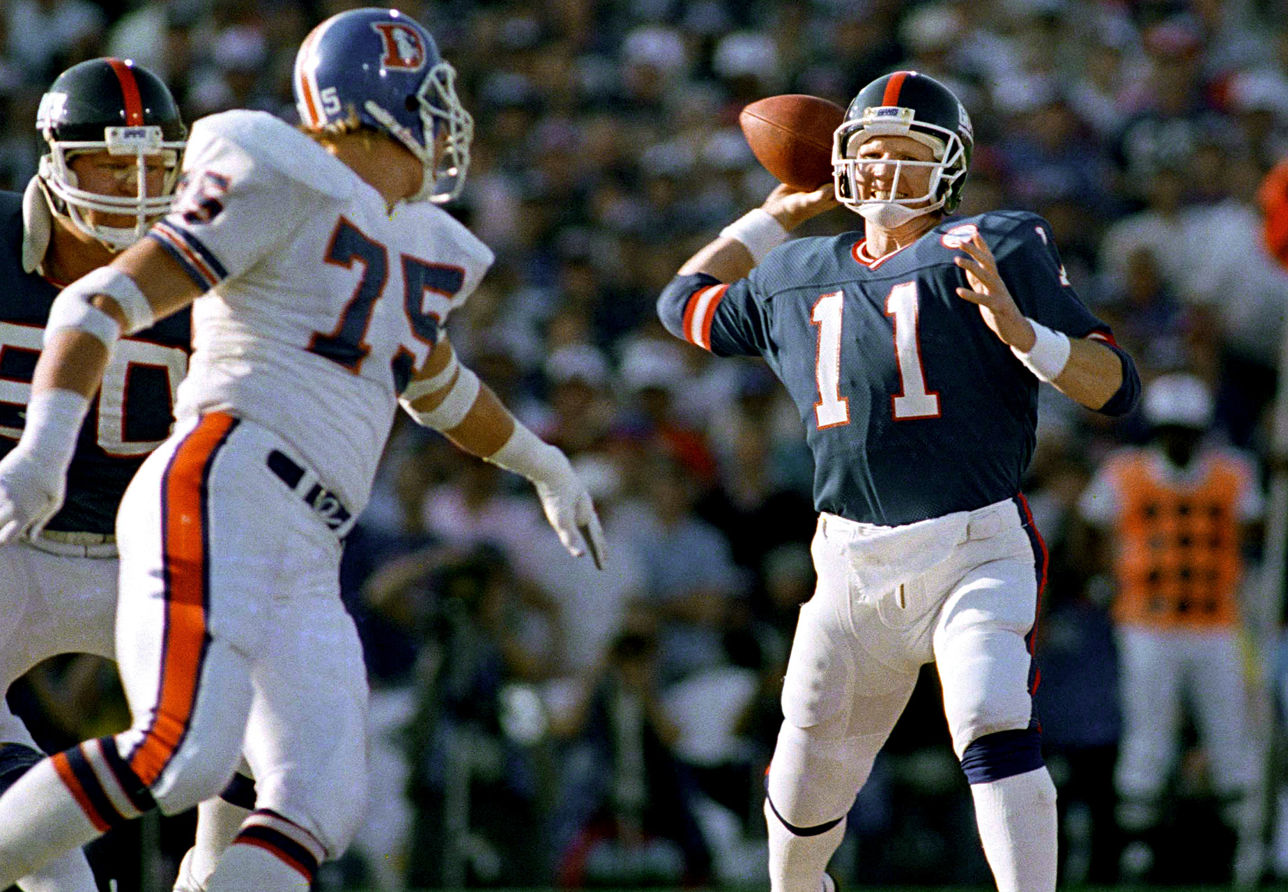 Phil Simms - Super Bowl XXI (22/25, 268 yards, 3 TDs)
