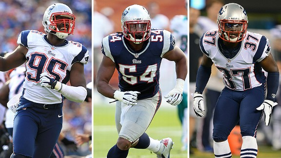 Chandler Jones, Dont'a Hightower and Alfonzo Dennard
