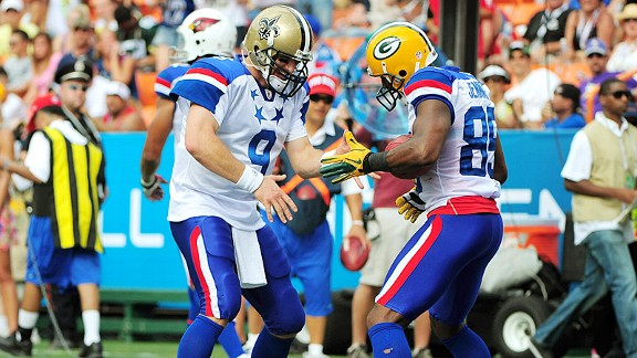 Drew Brees and Greg Jennings