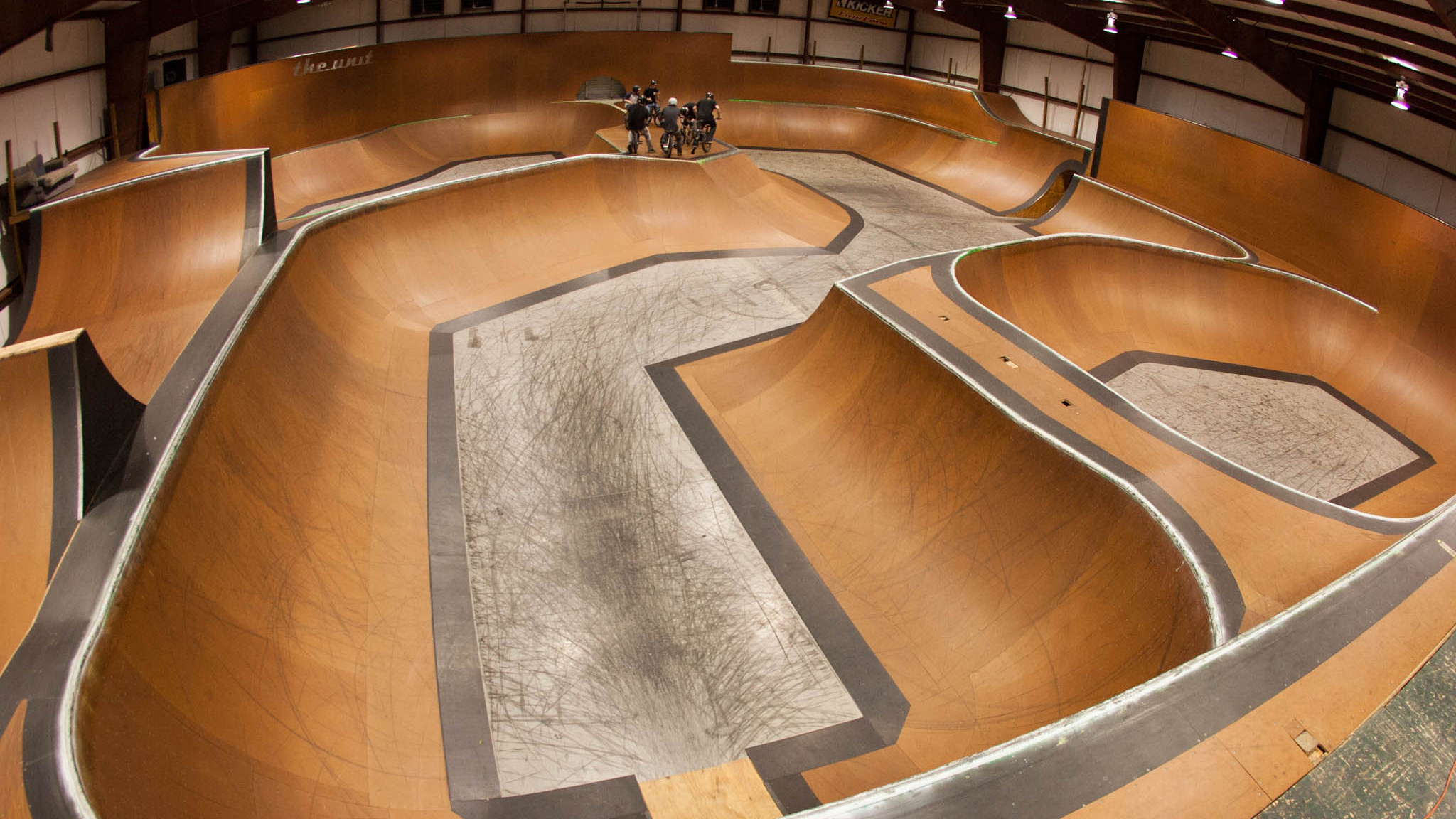 The Unit skatepark.