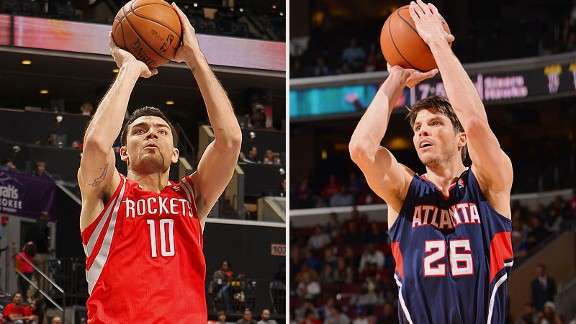 Carlos Delfino and Kyle Korver