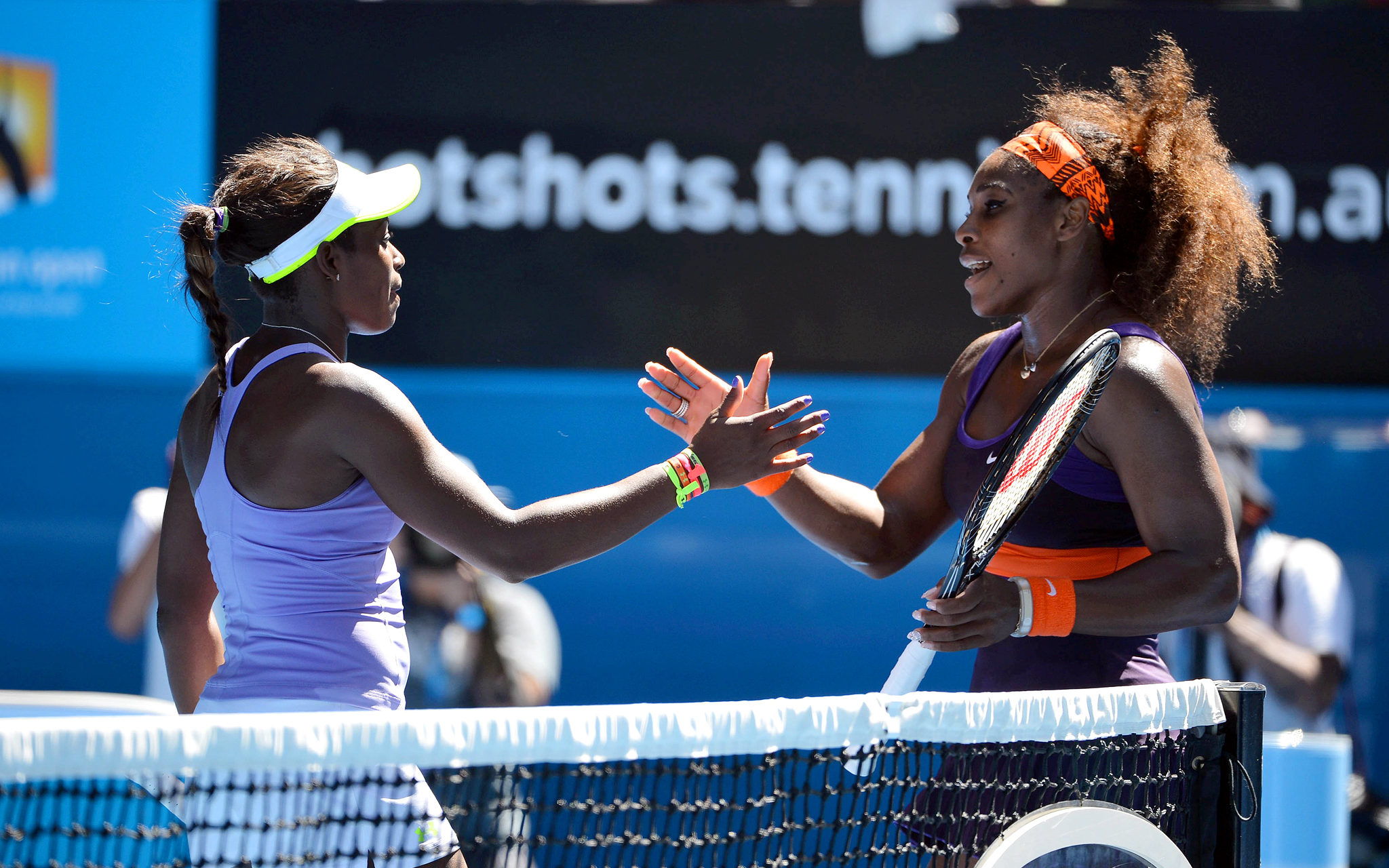 Sloane Stephens and Serena Williams