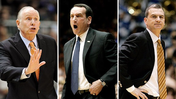 Jim Larranaga, Mike Krzyzewski and Mark Turgeon