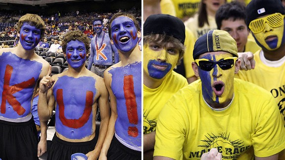 Kansas-Michigan fans