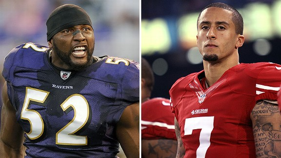 Ray Lewis and Colin Kaepernick