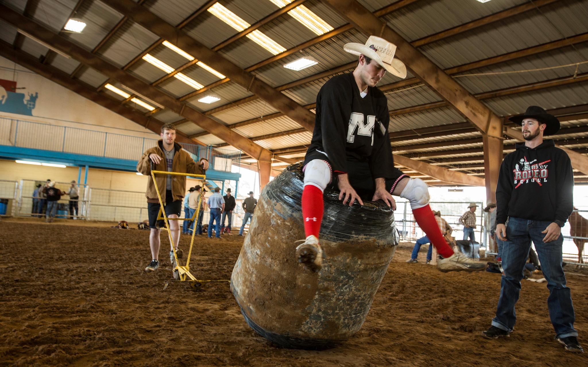Bull Fighter Training At Sankey Rodeo School Sankey