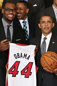 LeBron James and President Obama