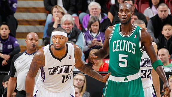DeMarcus Cousins, Kevin Garnett