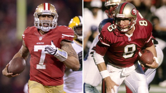 Colin Kaepernick, Steve Young
