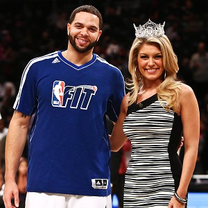 Deron Williams and Miss America 2013 Mallory Hagan