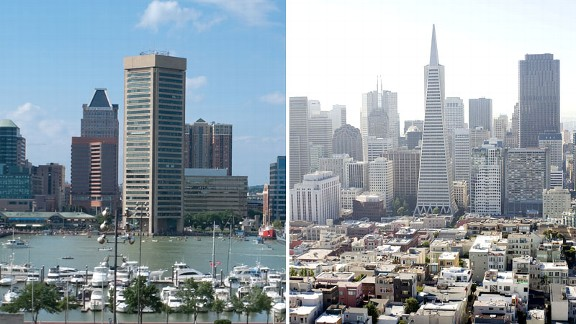 Baltimore and San Francisco