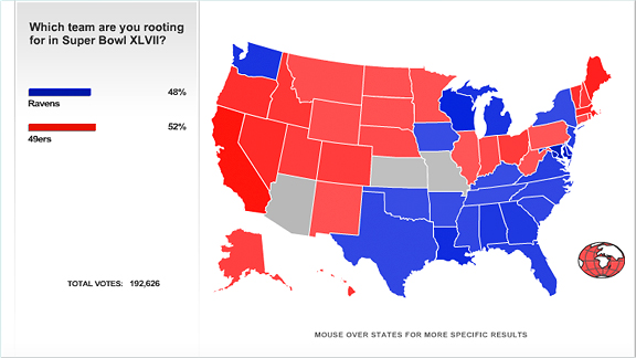 SportsNation Poll Map