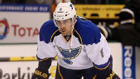 Wade Redden #6 of the St. Louis Blues