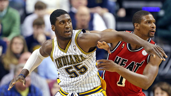 Chris Bosh, Roy Hibbert 