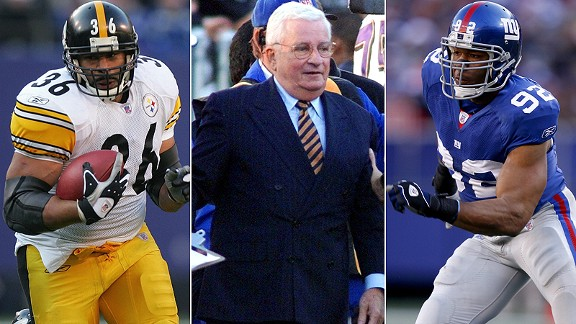 Jerome Bettis/Art Modell/Michael Strahan