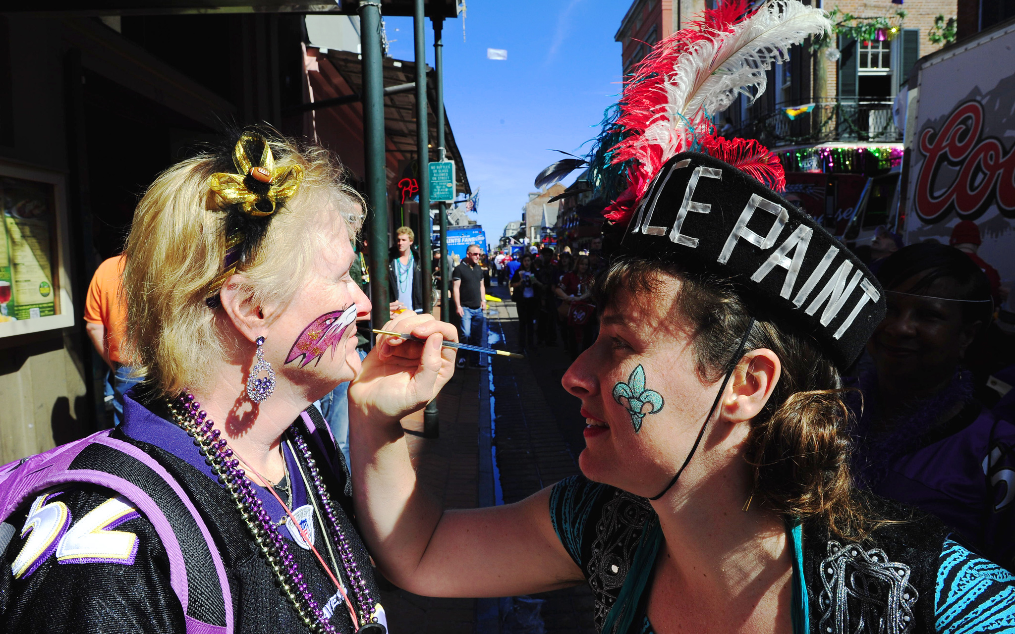 Face painting on Bourbon St.
