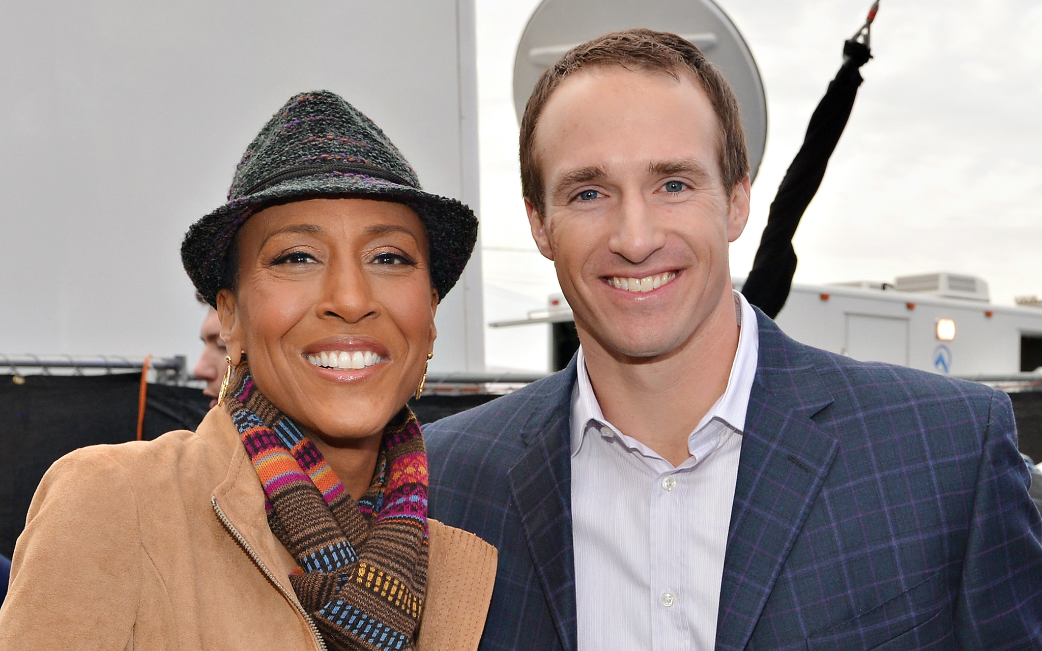 Robin Roberts and Drew Brees