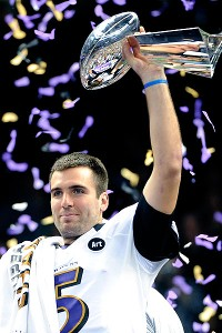 Flacco casting as Unitas ignites family feud