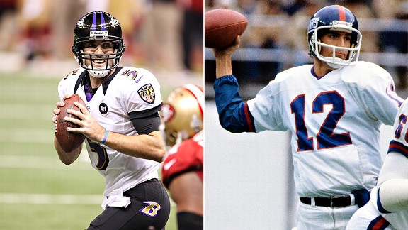 Joe Flacco and Scott Brunner