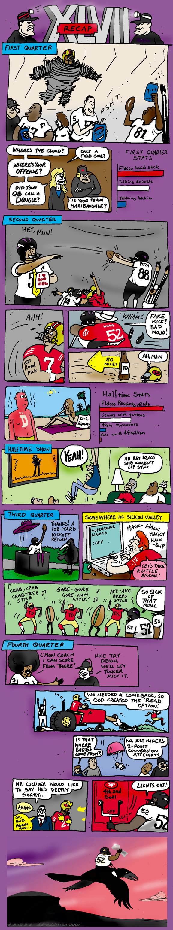 Kurt Snibbe's Super Bowl XLVII cartoon