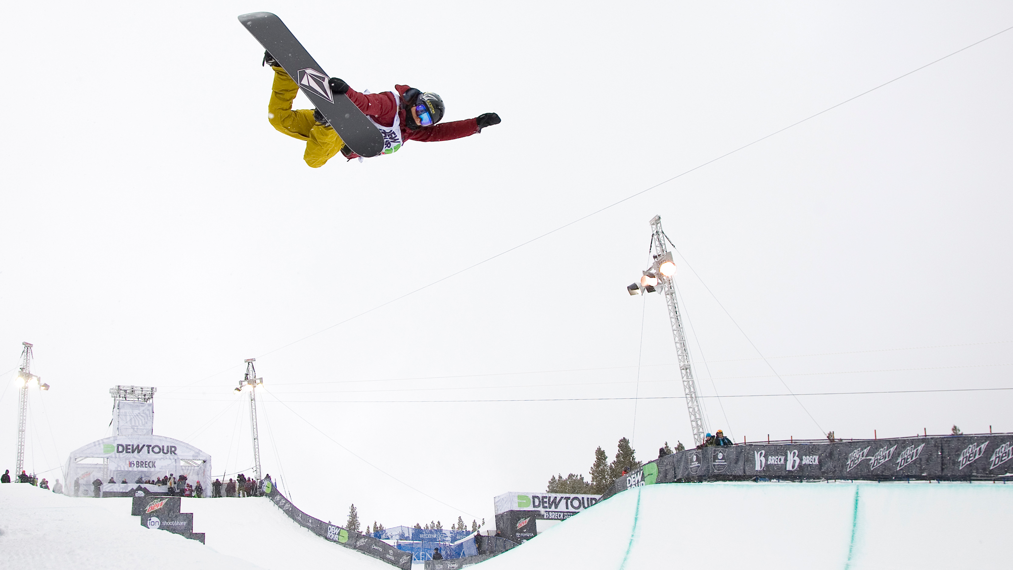 Style: definitely essential. Elena Hight tweaks it out at Dew Tour Breck.