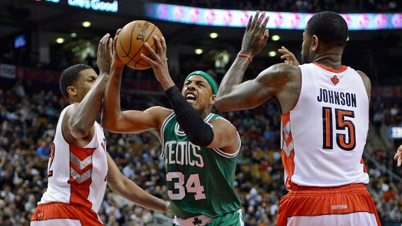 Paul Pierce, Amir Johnson, Rudy Gay