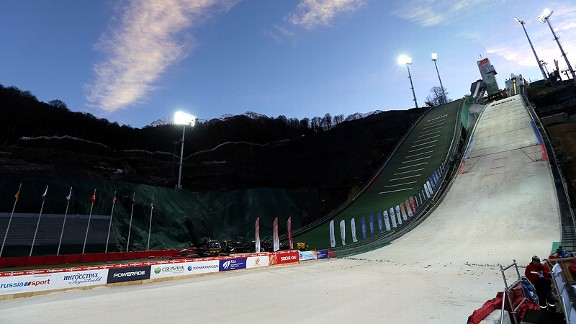 RusSki Gorki Ski Jump in Sochi, Russia