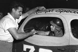 Buck Baker, left, and Cotton Owens were friendly rivals on the track and are now entering the NASCAR Hall of Fame in the same class.