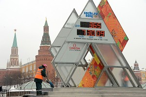 Sochi 2014 countdown clock
