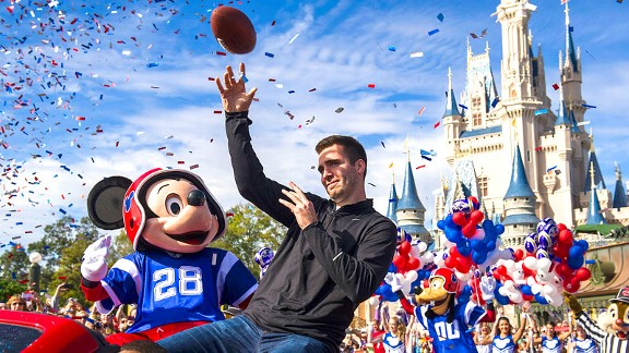 Joe Flacco of the Baltimore Ravens at Disney World after the Super Bowl