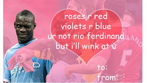 Amazing Mario Balotelli Valentines Day Cards – Mario Valentines Cards