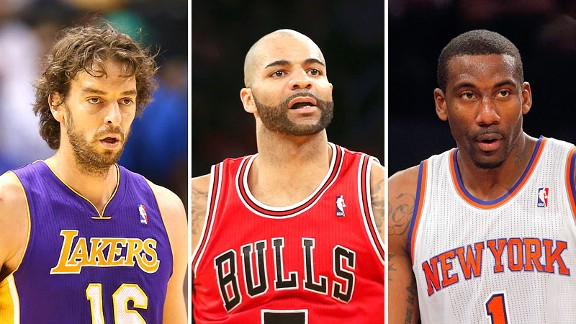 Pau Gasol, Carlos Boozer, Amare Stoudemire