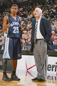 Earl Watson and Hubie Brown with the Memphis Grizzlies