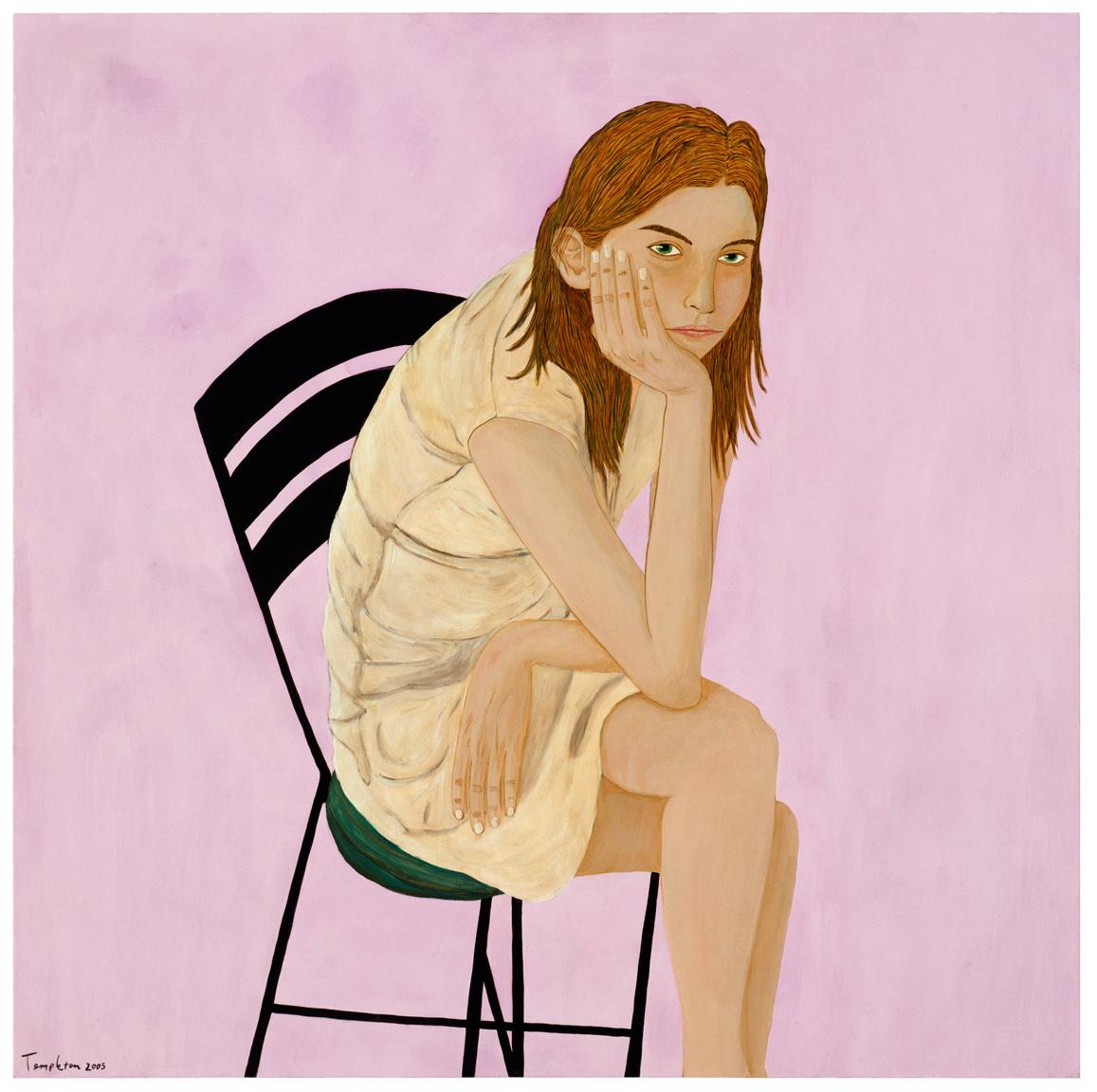 Ashley Thayer, acrylic on panel
