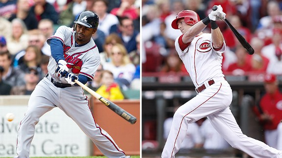 Michael Bourn and Drew Stubbs