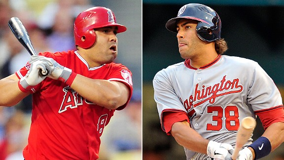 Kendrys Morales and Michael Morse