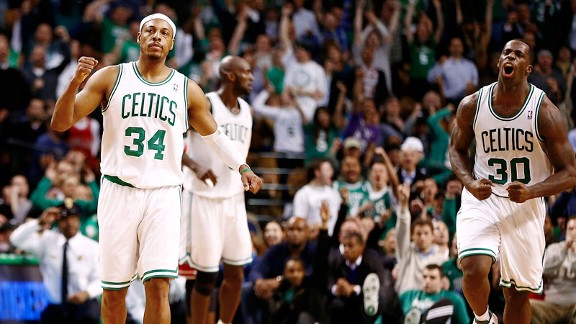 Paul Pierce and Brandon Bass