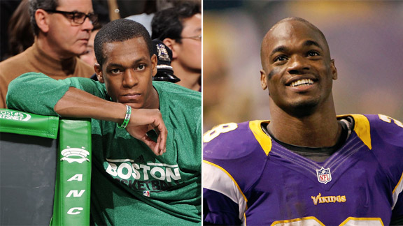 Rajon Rondo, Adrian Peterson