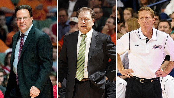 Tom Crean, Tom Izzo and Mark Few