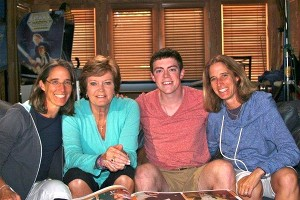 Pat Summitt and Tyler Summitt with Pat XO directors  Lisa Lax, left, and Nancy Stern Winters, right.