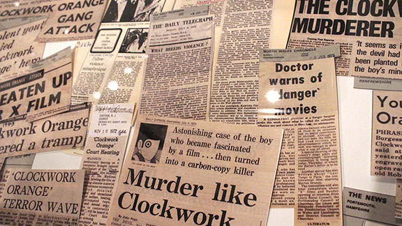 A Clockwork Orange Headlines, Stanley Kubrick at LACMA