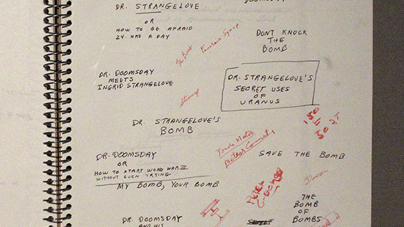 Strangelove Notebook, Stanley Kubrick at LACMA
