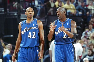 Jerry Stackhouse and Michael Jordan