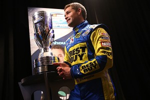 Understandably, Ricky Stenhouse Jr. was a popular interview during media day festivities.