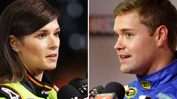 Questions abounded about Danica Patrick and Ricky Stenhouse Jr.'s romance Thursday at NASCAR's media day, but neither seemed to mind.